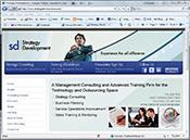 Part Time Marketer website development